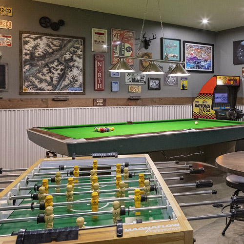 Your very own game room for kids of all ages and hours of fun!
