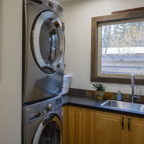 Fully equipped laundry facilities for your convenience.